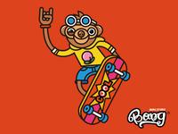 Skateboard Monkey Bang