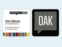 CreativeMornings/OAK Bizcard