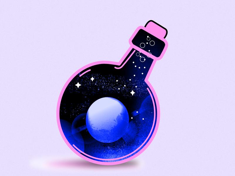 Moon in a bottle