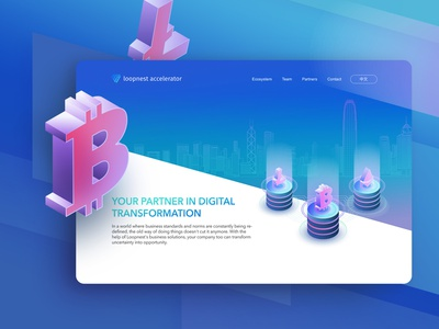 Cryptocurrency Startup Landing Page uidaily ux design uidesign uiux startup cryptocurrency website webapp landing page ux ui