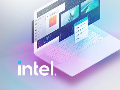 Intel Laptop Demonstration Software UI Screens video advertising ui ux