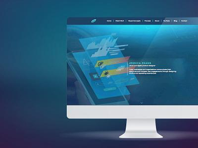 portfolio redesign mockup personal branding portfolio websites landing page website portfolio webapp water ux ui desktop graphic web