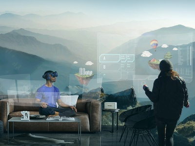 virtual reality travel ad concept image ux ui rendering visual design advertisement visualizations virtual reality augmented reality ar vr