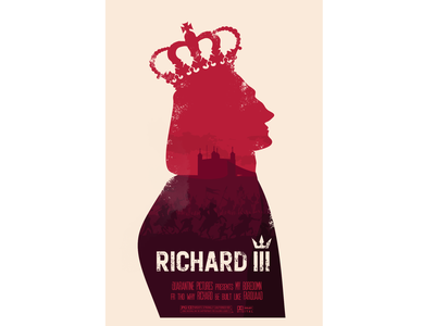 Richard III Movie Poster shakespeare poster movieposter movie photoshop illustration flat design
