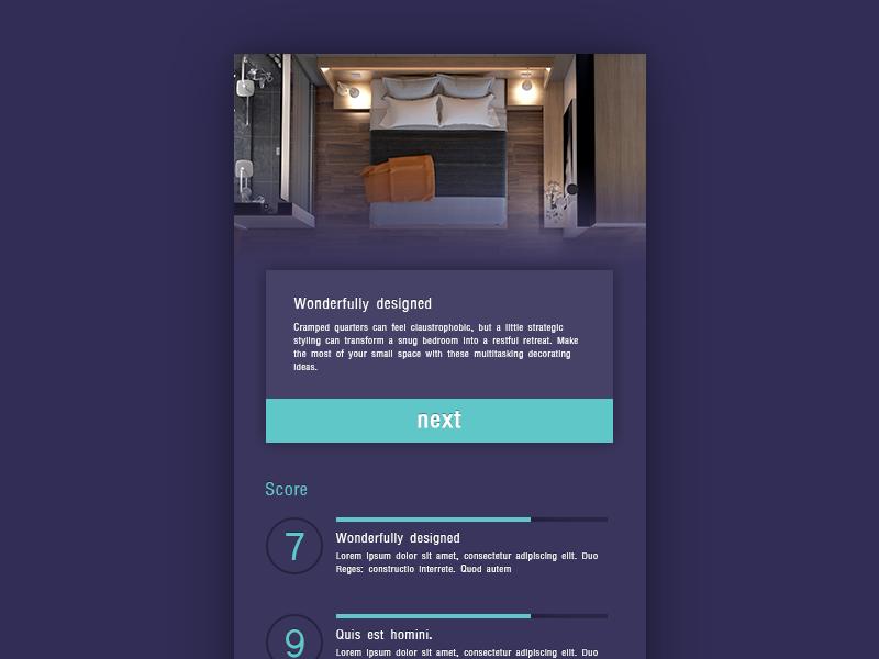 Room Design User Interface review score detail design ux ui