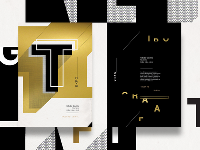 E X P O print typography page editorial mag type