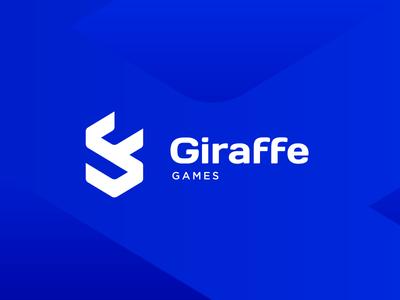 Giraffe Games - Logo proposal modern icon blue sporty sport gamer game identity branding brand logo