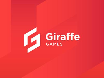Giraffe Games - Logo proposal modern icon red sporty sport gamer game identity branding brand logo