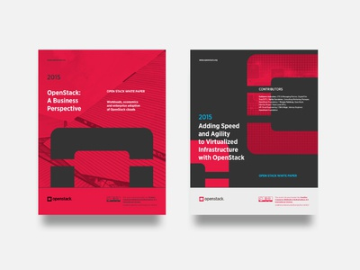 Openstack - Booklet proposal cover grid type poster layout