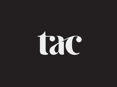 TAC serif type premium cellar wine branding brand logo