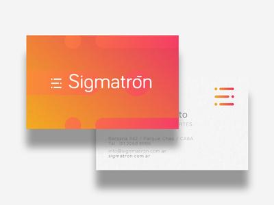 Sigmatron WIP clean modern gradient tecno sport tech wip branding brand logo
