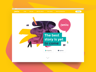A glace at the Lomics proposal storytelling story social app brush comic branding