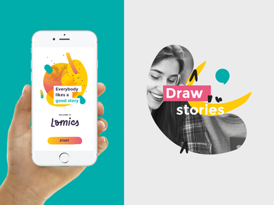 A glace at the Lomics proposal storytelling story social comic brush branding app