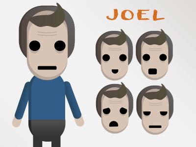 """Joel"" Expressions Sprite | Game Design Course"