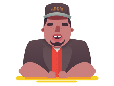 Patrice O'Neal character vector illustration