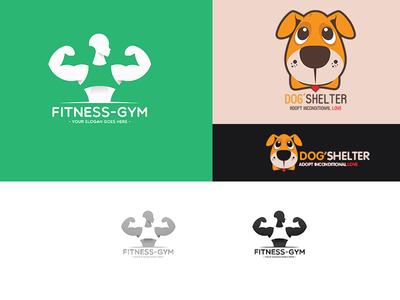 Fitness-gym logo + Dog'shelter