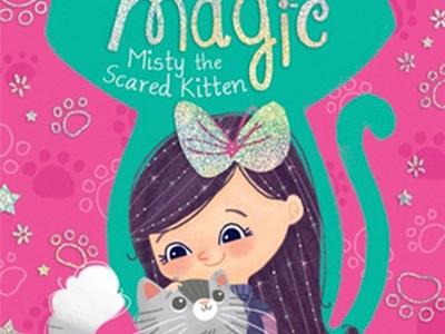 Kitty's Magic childrens illustration magic cat kitten book