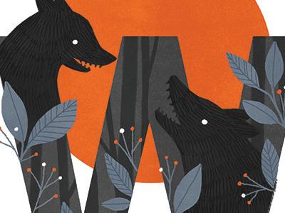 Werewolf myth folklore lore illustration typography werewolf