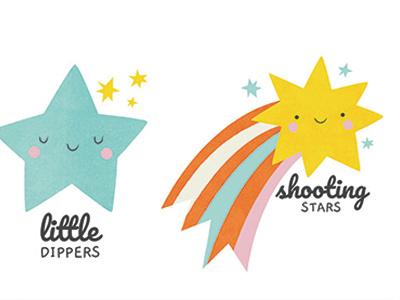 Children's ministry logos kids cute logo design shooting star star