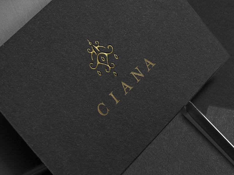 Ciana Logo branding luxury logodesign business cards typography hand drawn chandelier logo