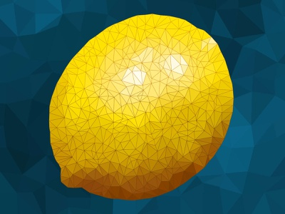 Low-Poly Lemon! triangles polygons polygonal low poly citrus fruit lemon polygon art polygon lowpolygon lowpolyart lowpoly low-poly