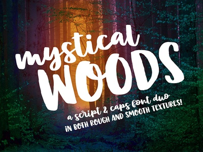 Mystical Woods Font Duo