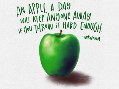 Apple A Day - lettering and painting apple painted painting illustration handlettered lettering handwriting