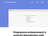 Homepage/blog header idea