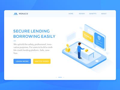 Financial Loans blue money isometric loans financial