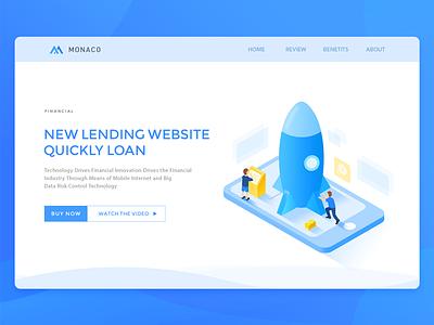 Financial Loans(quickly loan) money loans isometric financial blue