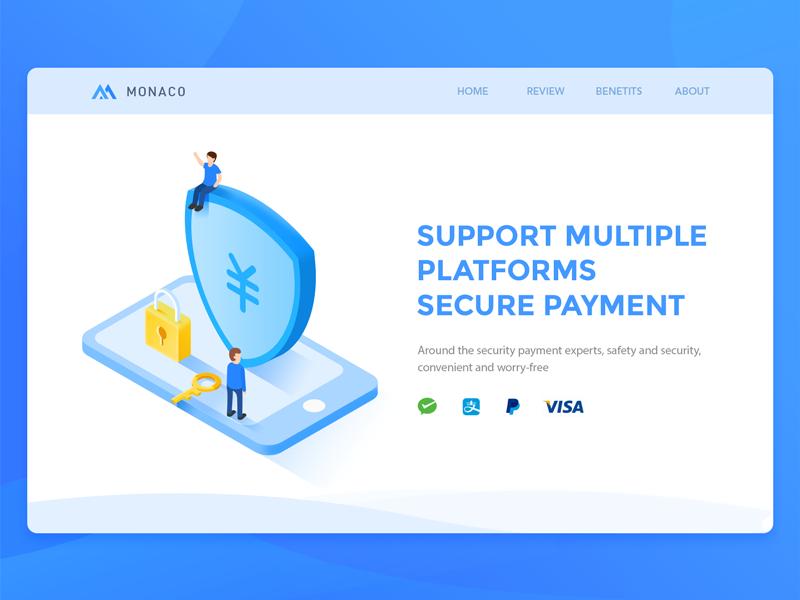 Financial Loans(Secure Payment) money loans isometric financial blue