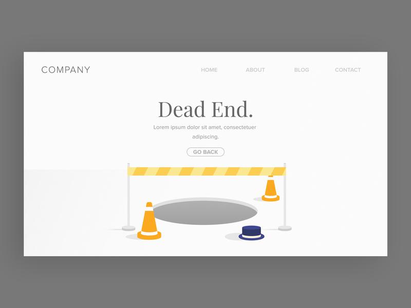 Error State Illustration #6 design caution dead end ui illustration website web error message error 404 error page error