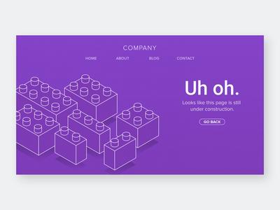 Error State Illustration #7 ui design website illustration back blocks lego error message error page error 404 error