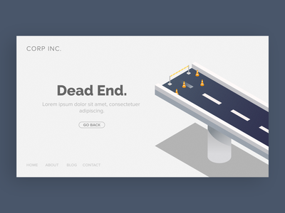 Error State Illustration #8 website dead end isometric bridge error message error 404 error page error design ui illustration
