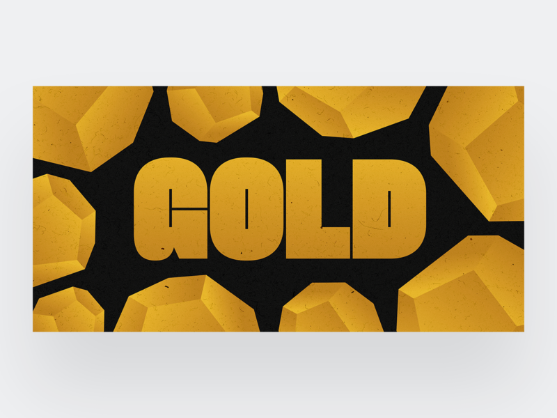 Gold ore texture design font card illustration gold typeface typography type