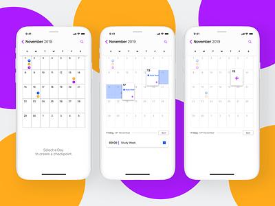 Calendar App figma ui iphone scheduling project collaboration teamwork team design ux mobile ui app mobile calendar