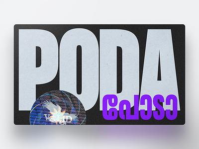 Poda പോട പോട poda design type art formula condensed typeface sticker holographic card kerela malayalam typography typecard