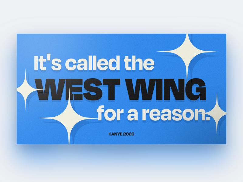 Kanye 2020 yeezy typeface typography card illustration west wing presidential election president politics west kanye 2020 election