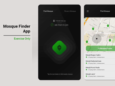 Mosque Finder App design mobile ux ui