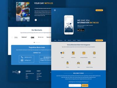 Ingo Landing Page design page landing website ui