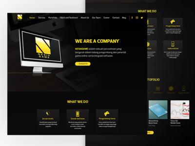 Nesia Game Web Design design page landing website ui