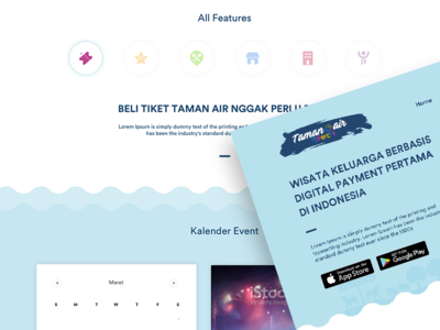 Taman Air Company Website Design design website ux ui