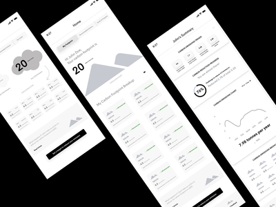 earth hero app wireframes mobile app ux mobile ux app design progress tracking carbon emissions tracking global warming climate change app mockups app wireframes ux design design wireframe user experience ux