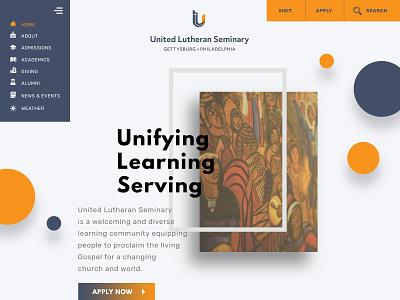 Graduate School Design Concept web design website visual design user interface design user experience school graduate theology university
