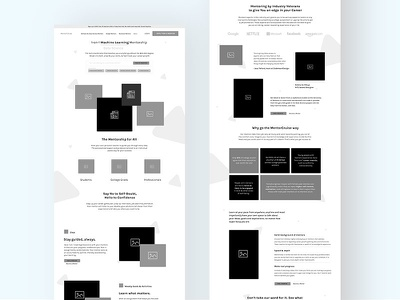 MentorCruise Initial Concept - Wireframe wireframe ux copywriting platform mentor marketplace mentee mentor mentoring