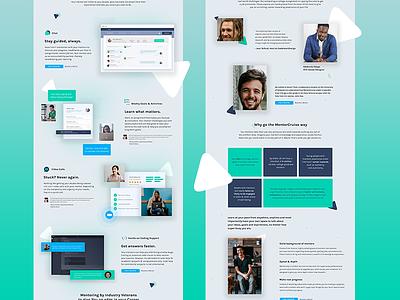 Home Page Design for MentorCruise web design copywriting ui ux marketplace mentee mentor mentorship