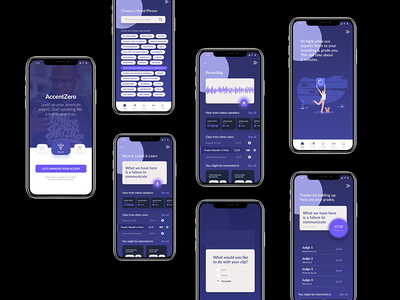 First prototype for an accent training app in figma app ux app ui learning language ui ux accent training training app mobile app american accent