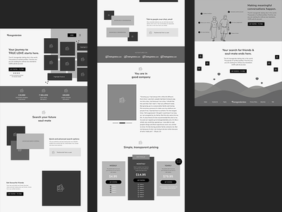 Home Page Wireframe - Transgender Dating Website wireframe page wireframe design ux design ux home page website landing page social dating transgender lgbtq user experience wireframe