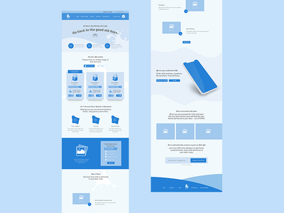 Dairy Landing Page Wireframe user experience ux landing page concept ux design milk products milk brand ux user experience wireframe landing page dairy