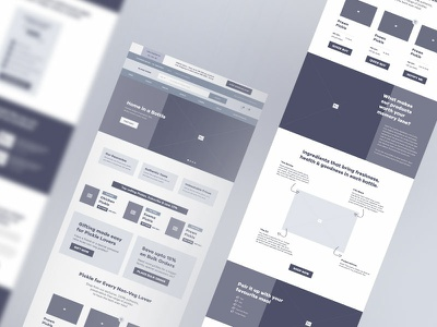 eCommerce Home Page Wire home page user experience design website wireframe mockup high fidelity wireframe hi-fi wire web page wireframe online store wireframe ecommerce ux design ux design wireframe online pickle store online food store copywriting ux ecommerce